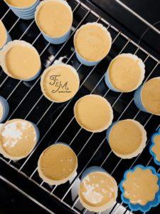 Muffin vegano, preparazione in forno