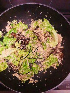 Sformato di quinoa in cottura
