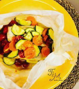 filetti di merluzzo con verdure al vapore 2