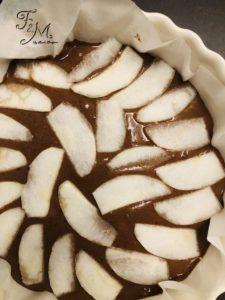 torta cioccolato e pere senza burro e senza uova