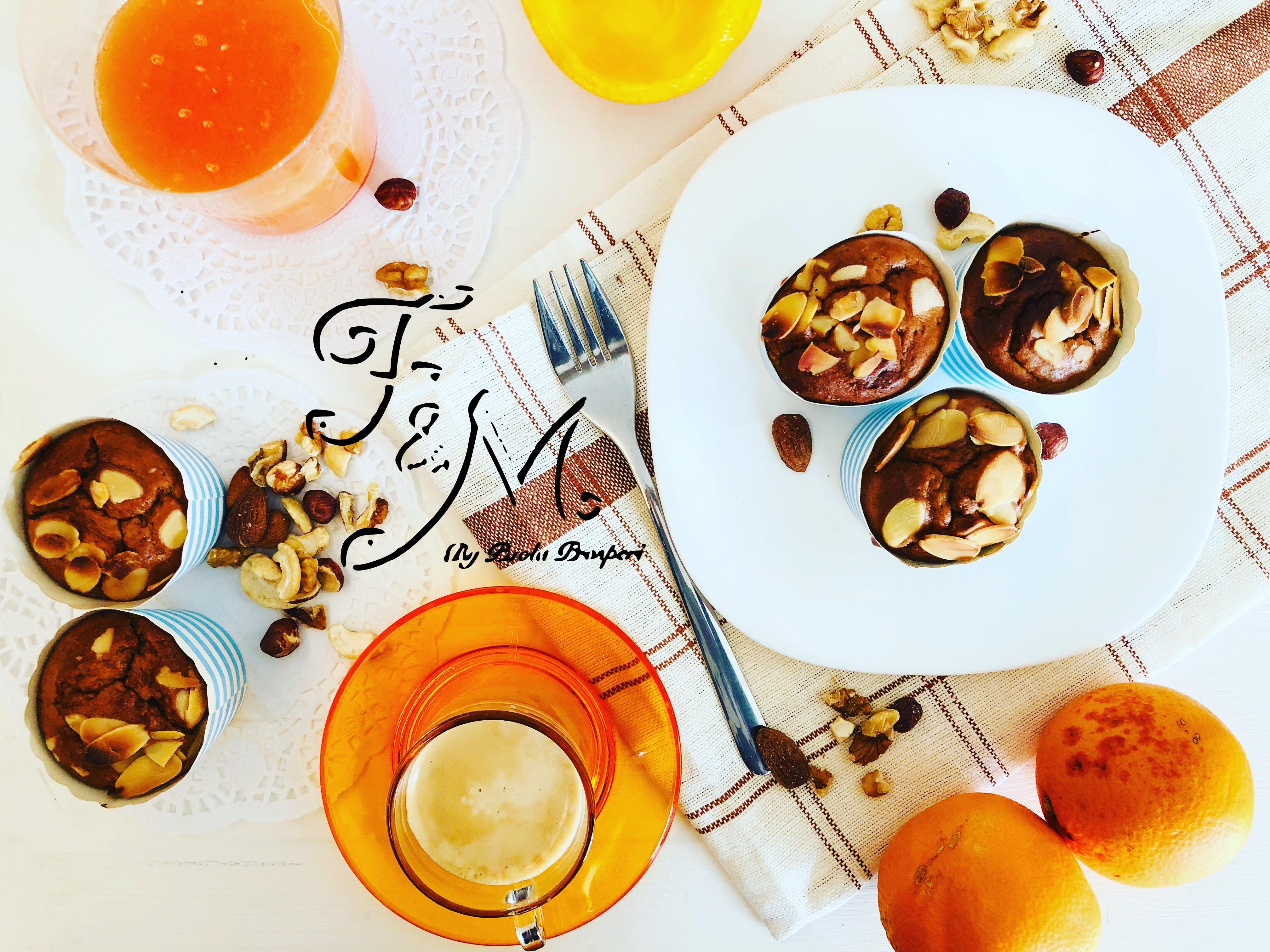 Muffin vegano arancia e mandorle