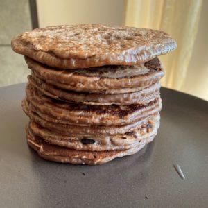 pancake vegani con esubero lievito madre